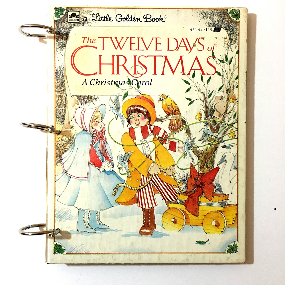 Twelve Days Of Christmas Book.The Twelve Days Of Christmas Little Golden Book Christmas Junk Journal Kit