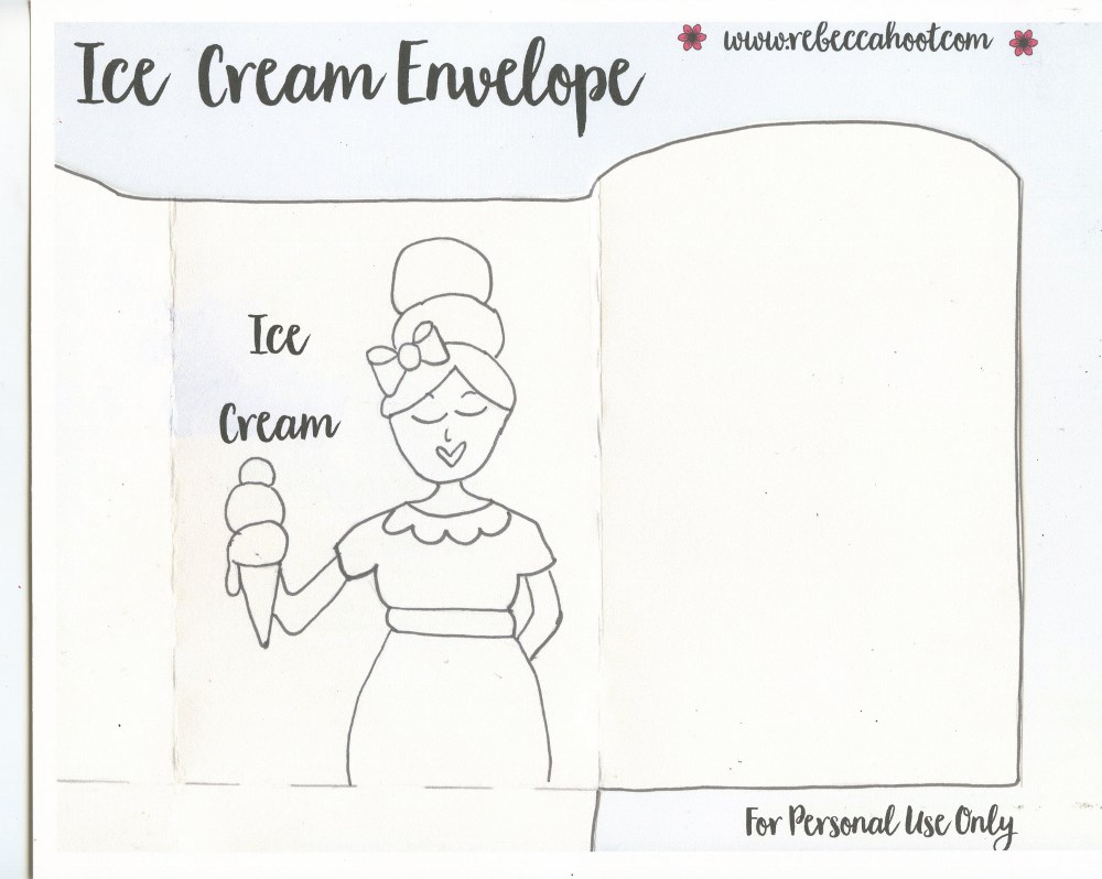 Ice Cream Envelope