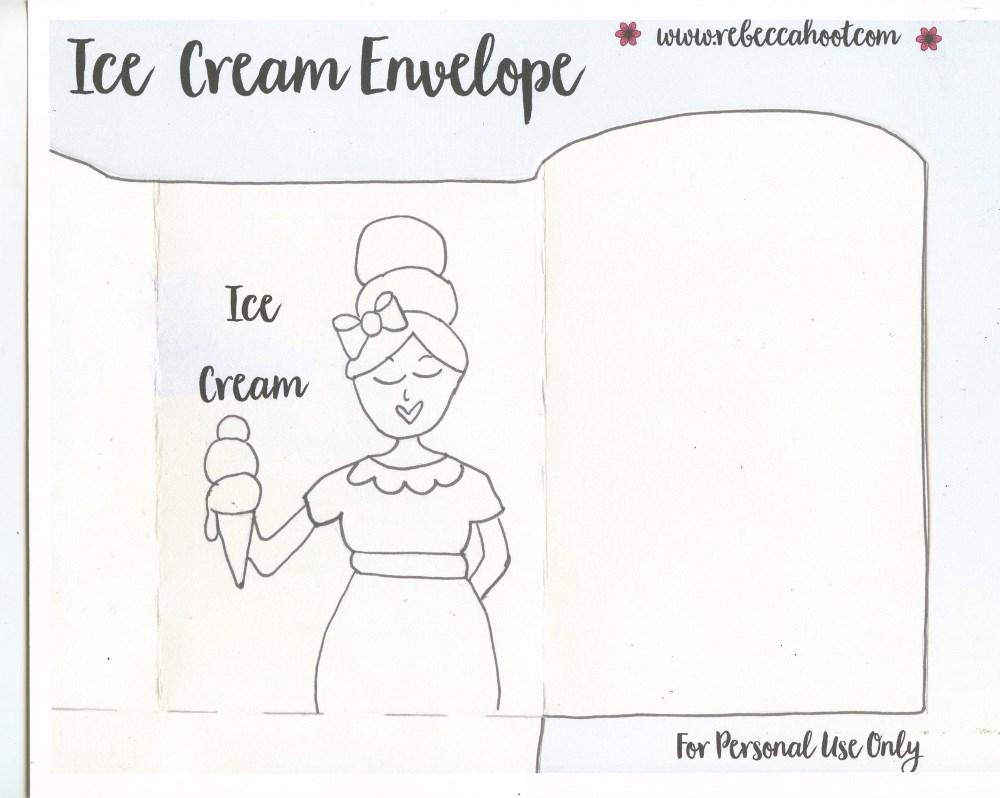 Ice Cream Envelope